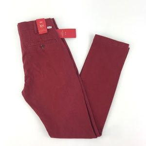 Levis Mens 511 Slim Fit Utility Red Pants 28X32